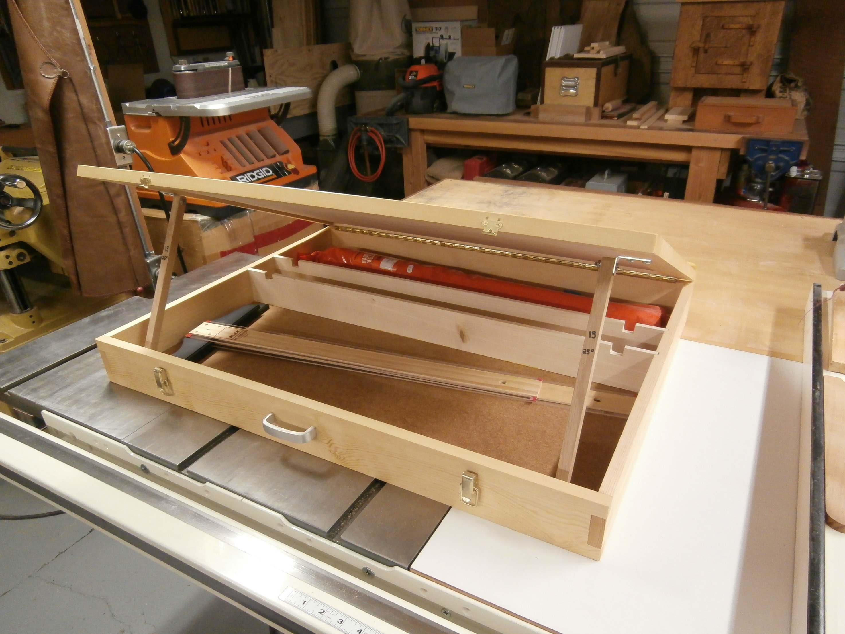 Drafting Table And Storage Box Max Vollmer