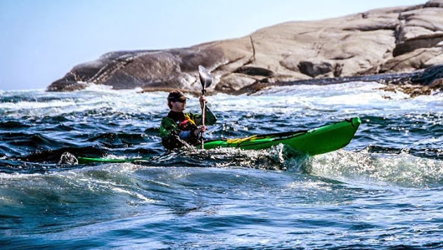 Karl kayaking in Nova Scotia, Canada.